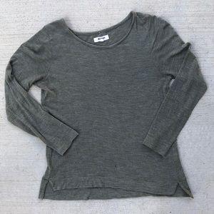 Madewell irregular long sleeve T-shirt S